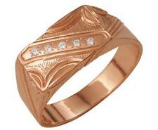 Men's rose Gold Plated signet ring Size 10,5-11 US (20,5 RU)