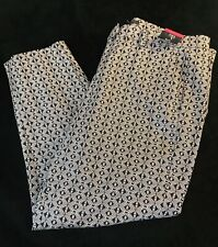 BNWT M & S Women Black Mix Cotton Rich Slim 7/8 Length Trousers UK18R RRP £27.5