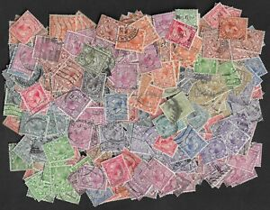 Approx 500 unsorted good used George V Royal Cypher stamps.