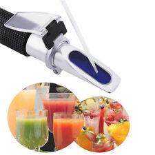 Portable Handheld Wine Alcohol Refractometer MeasurIing 0-40%Brix Scale 0-25%VOL