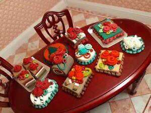 Dollhouse Bakery X-MAS lot 10 CAKES chocolate Handbaked Sweet Shop Goodies **