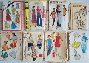 Vintage APRON Sewing Pattern LOT of 8 Milnot Advance Simplicity McCall Butterick