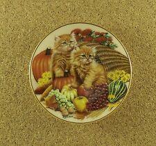 Kalendar Kitties Miniature Mini NOVEMBER Calendar Plate #1 Bradford Exchange