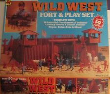 Fort Apache Wild west Vintage playset toy Marx recast w/extra figures 140 pieces