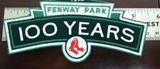 1912-2012 BOSTON RED SOX FENWAY PARK 100 YEARS MLB OFFICIAL SLEEVE PATCH
