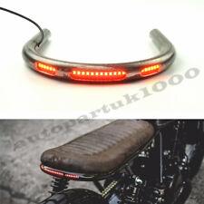 Pipe Dia: 22mm Motorcycle Seat Frame Hoop Loop End Large With LED Brake Light