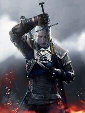 POSTER THE WITCHER 2 3 WILD HUNT WOLF LUPO GERALT OF RIVIA VIDEOGAME FANTASY #20