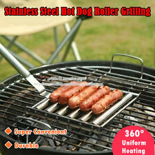 Stainless Steel Hot Dog Roller Grilling, Barbecue Baking Utensils Accessories