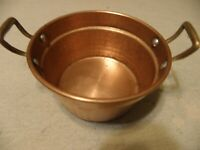 Hammered copper dish or pan