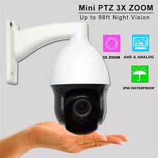 "AHD 960H 1200TVL Outdoor CCTV Security 3"" MINI PTZ Camera 3X ZOOM 2.8-8mm Lens"