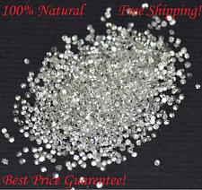 Round Cut 100% Natural White Diamonds Lot 100 pcs  I1-I3 Clarity 0.60 - 0.70 MM
