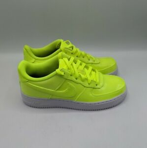 Nike Air Force 1 LV8 UV Volt White Patent Leather Size 6Y/Womens 7.5 AO2286-700