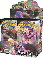 10 REBEL CLASH Booster Pack Lot - Factory Sealed From Box Pokemon Cards