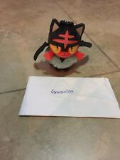 Pokemon Center  Litten Halloween Costume Plush Keychain