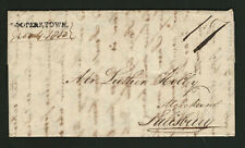 Cooperstown NY 1800 Stampless Cover With Straightline Cancel, Written by Myron