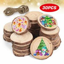 30 Wooden Wood Log Slices Natural Tree Bark Round Shape Tableware Decor Wedding
