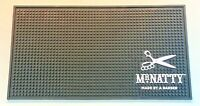 2 X MR NATTY RUBBER BARBERS MAT SHAVING NATTY'S NON SLIP COUNTER BAR RUNNER PAIR