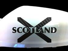 Scotland Scottish Flag Car Sticker Wing Mirror Decals (Set of 2), Black Carbon