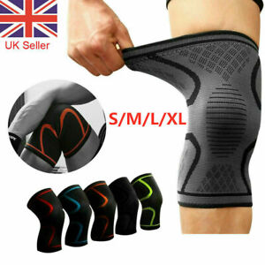 2 Copper Knee Support Compression Sleeve Brace Patella Arthritis Pain Relief Gym