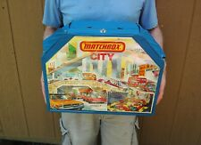 "Matchbox City 1978 Lesney Toy Play Set Case Opens 35""x24"" Vintage Car Garage"
