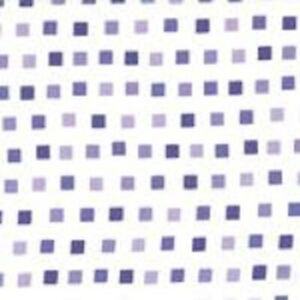 Clearance ~ Good Morning ~ Moda ~ 1/2 yard remnant Purple square dots on white