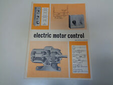 Electric Motor Control 1975 Machine Tools Industrial Equipment