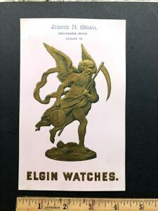 Elgin Watch large trade card