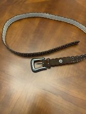 Jessica Simpson Bown Suede Leather Belt w/ Metal Studs Medium 202004094