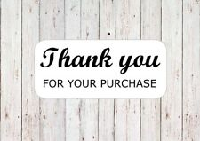 Thank You For Your Purchase Stickers Packaging Rectangle Envelope Stickers