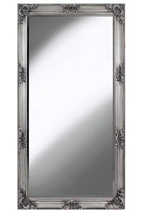 French Style Silver Traditional Glass Wall Mirror 180x90x8cm Home decor
