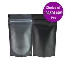 Wiederverschlie/ßbar Mylar Bags 100 St/ück Tasche Folien Beutel mit Rei/ßverschluss Dient Wird zur Aufbewahrung von Lebensmitteln Snacks N/üssen Fleisch usw 10 * 15cm Meowoo Mylar Beutel
