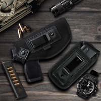Universal IWB OWB Pistol Holster Tactical Gun Holder Concealed Carry Glock Ruger
