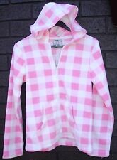 Girls size 6 casual Winter jacket hoodie zip up polar fleece Winter NEW pink