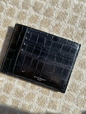 Authentic !!GIVENCHY Crocodile Embossed Calfskin Card Holder 8 Pockets.