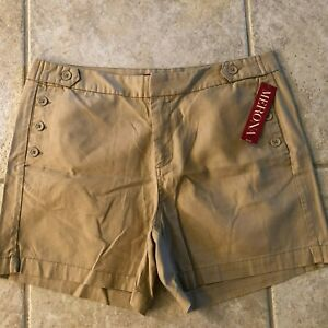 NWT MERONA beige shorts size 12