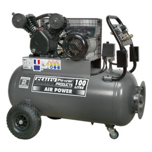 Sealey SAC3103B Air Compressor 100L Belt Drive 3hp with Front Control Panel