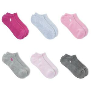 Polo Ralph Lauren Women's 6-Pack Cushioned Atheltic Low Cut Socks