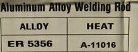 5 kg Varilla ALUMINIO Soldadura TIG 5356 de 1,6 mm AlMg5  Aluminium Welding Rods