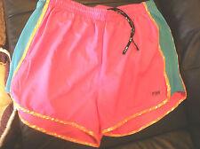 VICTORIA'S SECRET  LOVE PINK  aqua/gold/pink Shorts  Medium  NWT