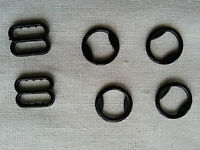 Set of Bra Strap Adjustment Slides and Rings 10 mm Black, White or Transparent