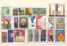 LU - LUXEMBOURG 1982 complete year set MNH