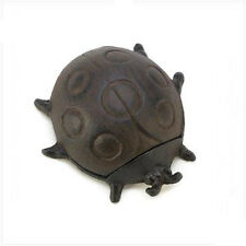 New! Cast Iron Ladybug Hide-A-Key *Yard & Garden* Decorative/Security *Burnished