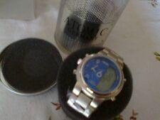 orologio da polso Atomic Germany dual timer ana digitale bracciale acciaio 407