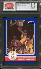 1984 STAR CO. AWARDS BANQUET #6 MAGIC JOHNSON (PIVOTAL PLAYER) SCD 8.5 NM/MT+