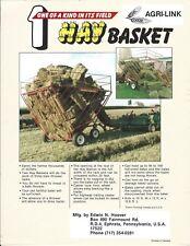 Farm Equipment Brochure Ad - Agri-Link - Edwin Hoover - Hay Basket (F6227)