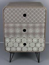 Nachttisch Bett Beistelltisch Nachtschränkchen 3 Schubladen Skandi Design T1-NSK