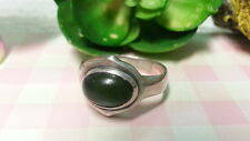Ring 925 Sterling Silver*Size 7.25*F157 Beautiful Green Adventurine Gems Vintage