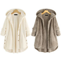 Women Teddy Bear Oversized Hoody Coat Winter Fleece Cardigan Jumper Jackets HOT!
