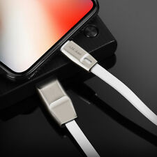 2017 Metal Zinc MFi Lightning USB Data Fast Charge Flat Cable for iPhone X/8/7/6