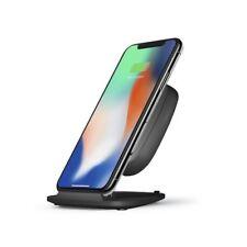 ZENS iPhone X Xs Max FAST Wireless Charger Pad/Stand 10W FAST Universal Qi Black